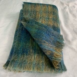 Vintage Andrew Stewart Mohair Wool Throw Blanket